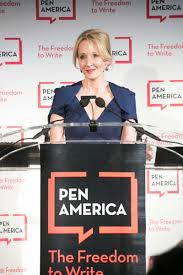 flint dom to write j k rowling on trump a night at the j k rowling accepting the literary service award