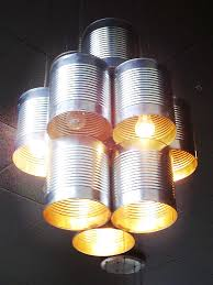 lighting design large tin cans pizzicato gourmet pizza cafe lighting design