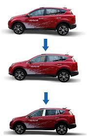 <b>Пакет хрома на окна</b> для Toyota RAV4 (2013 - 2015)