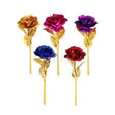 24 К позолоченный цветок розы Искусственные цветы ветка ...