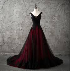 Details about <b>New Red</b>/Black Gothic Wedding <b>Dress</b> A Line Pageant ...