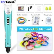 myriwell 1st generation best diy 3d printer pen diy arts and crafts caneta 3d drawing painting pens kalem abs pla filament