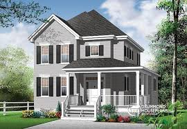 House plan W  V detail from DrummondHousePlans comfront   BASE MODEL storey  bedroom American style   home office   Willow