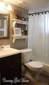 country themed reclaimed wood bathroom storage: i like the idea of a quotfrostedquot clear shower curtain clean