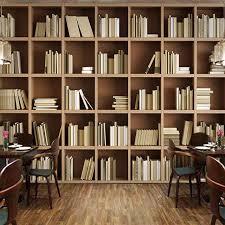 Online Shop <b>Custom Mural</b> Wallpaper Bookcase Library Living ...