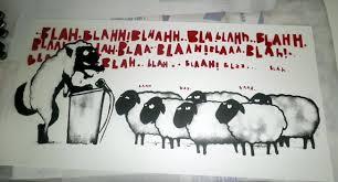 Afbeeldingsresultaat voor als makke schapen naar de slachtbank