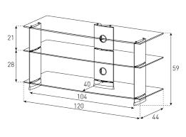 <b>Тумба под телевизор Sonorous</b> PL 3100 B HBLK | Online Samsung