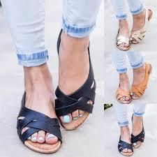 Sandals Women Elastic Open Toe Slingbacks Sandals <b>Summer</b> ...