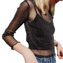 Выгодная цена на Блестящая <b>Черная</b> Рубашка — суперскидки на ...
