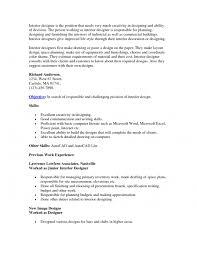 cover letter interior design resume objective for interior designer resume objective