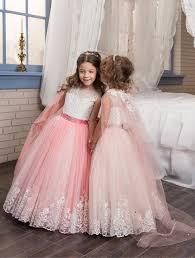 2017 <b>Romantic</b> Colorful <b>Puffy Lace</b> Flower Girl Dress for Weddings ...