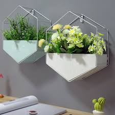 Nordic <b>Hexagon</b> Shelf <b>Metal</b> Wooden Wall Hanging Rack <b>Creative</b> ...