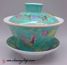 Jingdezhen <b>Vintage Hand Painted</b> Gaiwan Butterfly and Melon ...