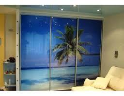 Встроенный шкаф купе фотопечать пляж и <b>пальма</b>, цена, фото ...