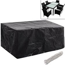 anself garden furniture cover 6 person poly rattan set 95 x 55 anself garden furniture cover 6 person poly rattan set 95 quot x 55 black garden furniture
