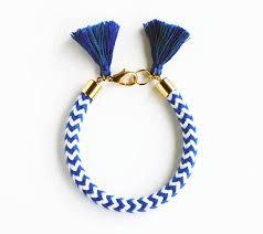 Nautical Bracelet <b>Blue</b> and <b>White</b> Chevron Rope by feltlikepaper ...