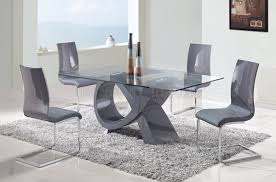 Dining Room Tables Furniture Dining Table Rectangular Wood Glass Top Dining Table Set Chairs