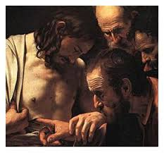 "Doubting Thomas ~ Then he said to Thomas, ""Put your finger here ... via Relatably.com"