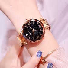 <b>Luxury</b> Luminous <b>Women Watches</b> Starry Sky <b>Magnetic</b> Female...