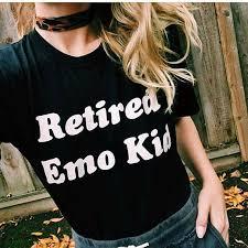<b>Fashion Clothing</b> RETIRED EMO KID Ladies T <b>shirt Women</b> ...