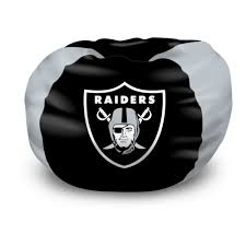 Oakland Bedroom Furniture Nfl Bean Bag Chair Oakland Raiders Bedroom Football Free Shipping