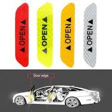 4pcs Car Door Open Sticker Reflective Tape Safety Warning ... - Vova