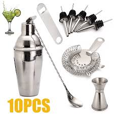 10pcs/<b>set</b> 700ml <b>Cocktail Shaker Set</b> With Mixer Bar <b>Drink</b> Bartender ...