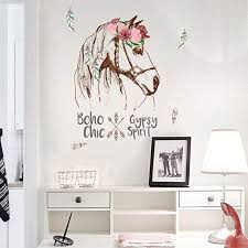 narutosak Wall Stickers Removable Flower Horse ... - Amazon.com