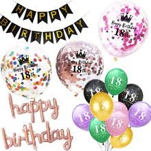 С днем рождения 18 фольги Воздушные <b>шары</b> розовое золото ...