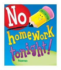 homework vs no homework clipart clipartfest no homework tonight ready