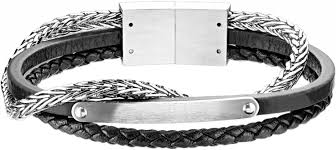 Мужской кожаный тройной <b>браслет Spikes</b> SLQ-1019S — купить ...