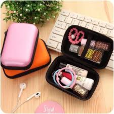 <b>Earphone Headset</b> Hard Case <b>USB Cable Storage</b> Box Pouch ...