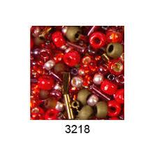 """<b>Бисер</b> ассорти <b>№3218</b> красно-бронзовый 25гр """"<b>Toho</b>"""" (<b>Япония</b>)"""