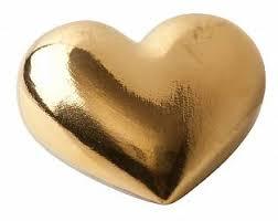 <b>Фарфоровое сердце Golden</b> Heart купить: цена на ForOffice.ru