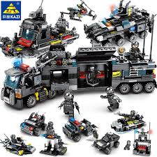 <b>8pcs</b>/<b>lot City SWAT</b> Police Truck Model Compatible LegoINGs ...