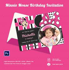 minnie mouse birthday invitation template 12 psd ai psd editable minnie mouse birthday invitation