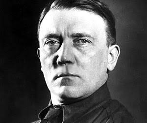 clean shaven Adolf Hitler