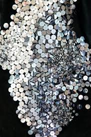Silver <b>sequin</b> embellished fabric; textiles design for <b>fashion</b>; <b>metallic</b> ...