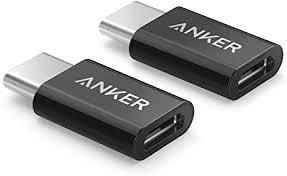 Anker USB <b>C</b> Adapter, [2 in 1 Pack] USB <b>C</b> (male) to <b>Micro USB</b> ...
