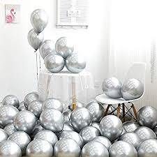 Pukavt Metallic Silver Balloons 12 inch 50pcs Party ... - Amazon.com