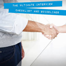ultimate interview checklist guidelines onward search