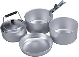 <b>AceCamp</b> Camping Pan Cook <b>Set</b> for 4 <b>People</b>, Stackable ...