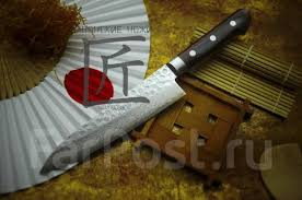 Японский <b>кухонный нож Sakai</b> Takayuki Damascus Гюито 180 мм ...