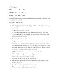 cover letter truck driving job description truck driving job cover letter cdl class a truck driver resume sample cdl example job description for resumetruck driving