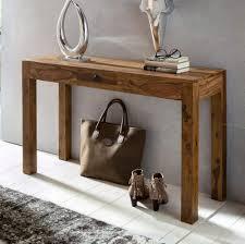 FineBuy Console table for hallway <b>Solid Wood Sheesham</b> 120 x 70 ...