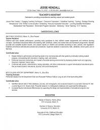 resume teaching assistant examples resume