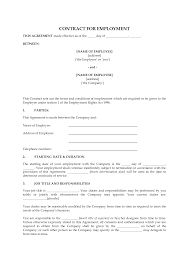 employment contract template cyberuse employee contract template pictures to pin iudcil52