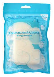 Clarette Конжаковый <b>спонж</b> натуральный для <b>тела</b>,белый