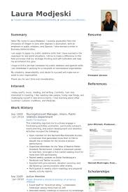 touringconcert manager intern public relations department resume samples pr resume template