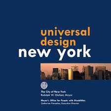entrance page cover page of universal design new york title reads universal design new york